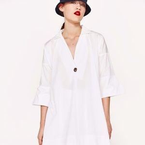 Zara Basic Collection Fall 2017 Poplin Shirt Dress